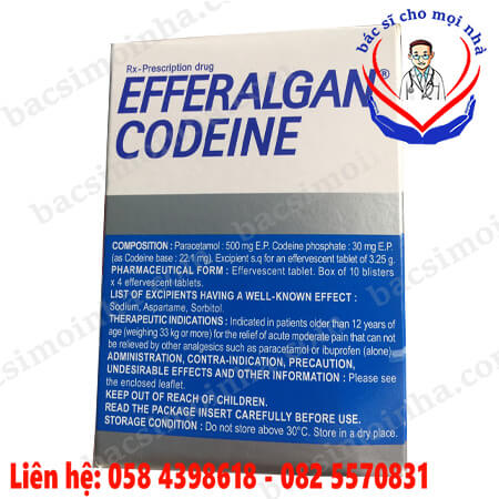 efferalgan codeine 500mg