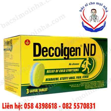 Tác dụng của thuốc decolgen