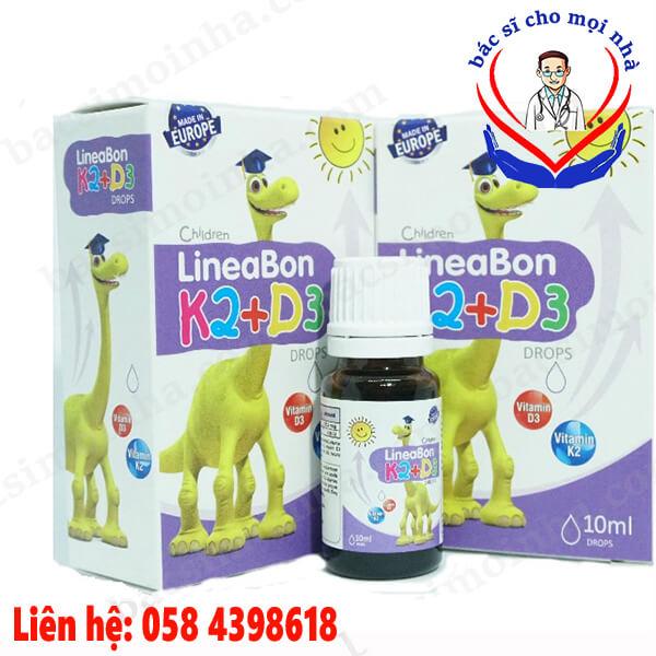 lineabo K2 D3 tăng cường hấp thu canxi